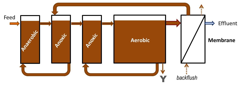 Proceso del sistema Bio Reactor de Membrana (AemaMBR)